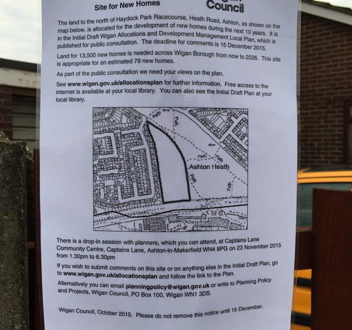 Plans to build next to the Heath